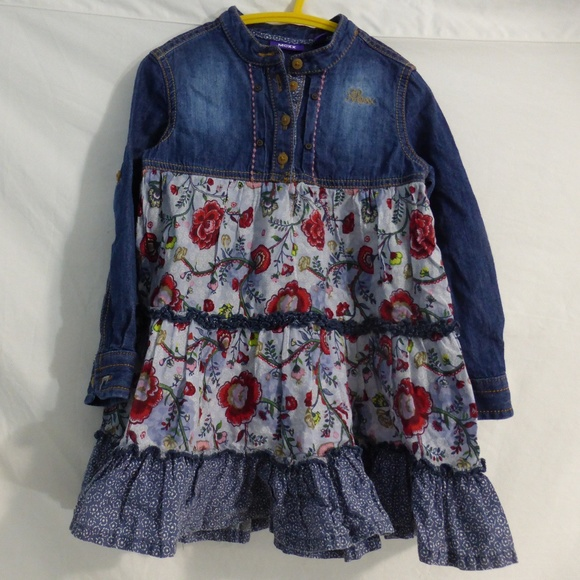 Mexx Other - Mexx Kids size 3 jean dress.  Partial button front